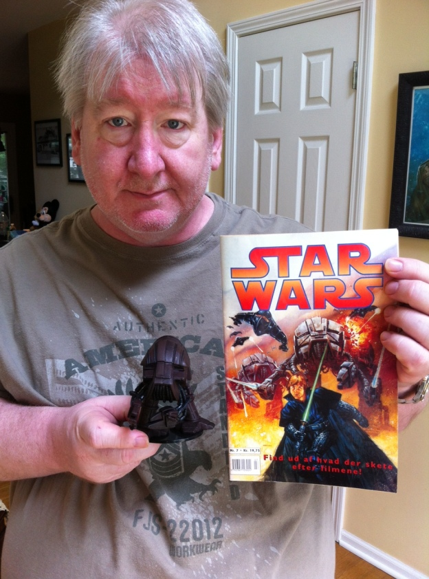 My Star Wars comic book cover, the creature I designed, and the toy based on it