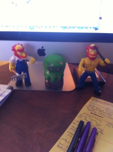 Dave Dorman's Gifts to Me: Groundskeeper Willie Action Figures & My Cthulhu Easter Figure