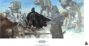 A Slight Disturbance in the Force on the Battle of Hoth by Dave Dorman