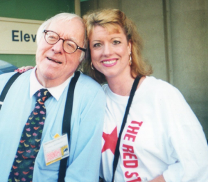 Ray Bradbury and Denise McDonald Dorman, San Diego Comic-Con 2001