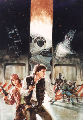 "Dave Dorman's Star Wars ""Smugglers Moon"" Original Art"