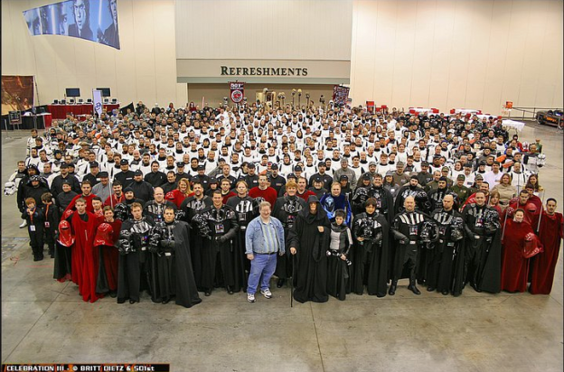 Hmmm...would a cosplay hater be in the foreground of the 501st? Stop. Think. Listen.