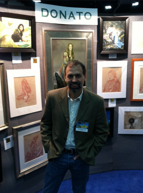A sliver of Donato Giancola's elegant booth display at SDCC
