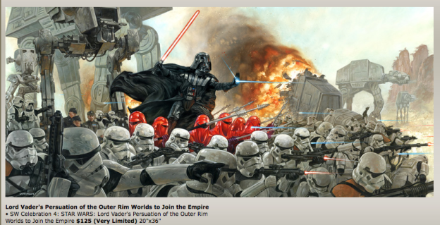 One of many DAVE DORMAN STAR WARS ARTIST PROOFS ON SALE NOW.