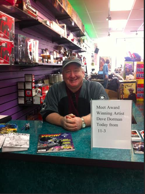 Dave at Dreamland Comics today.