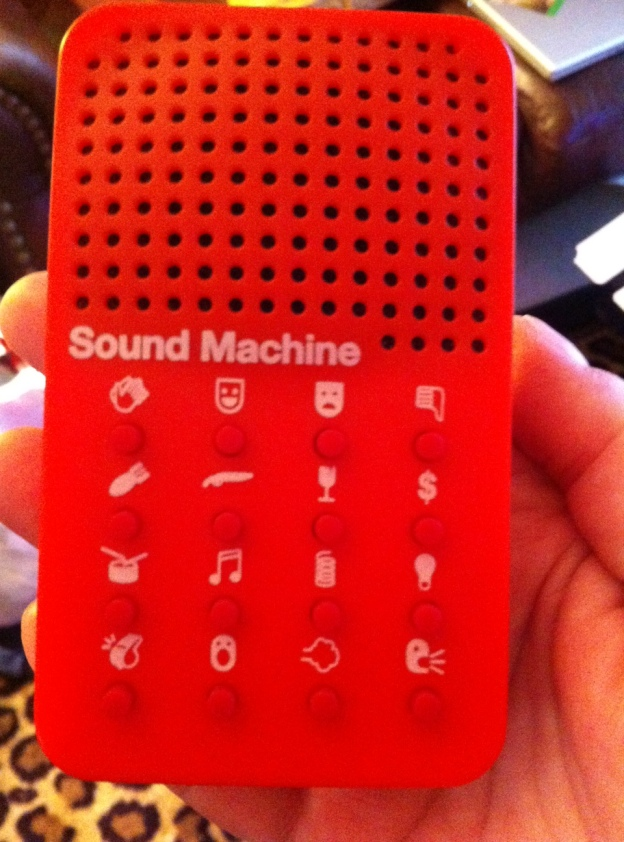 Jack's favorite Xmas gift from me: The Sound F/X Machine