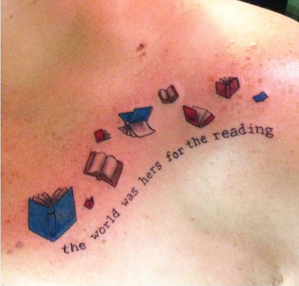 Amazing book tattoo that has me tempted...