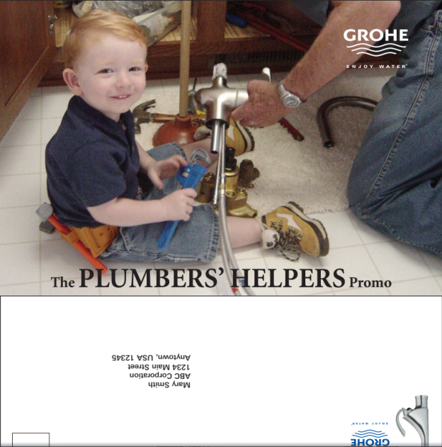 Jack and Dad in a GROHE ad.