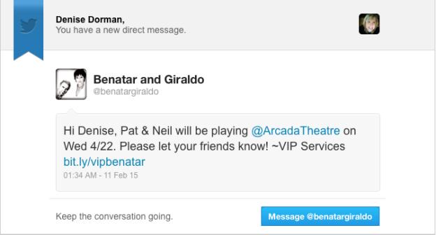 Pat Benatar and Neil Giraldo at The Arcada Theater in St. Charles, IL 4/22/15