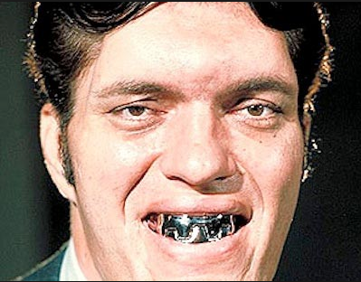 "Actor Richard Kiel, JAWS in James Bond films ""The Spy Who Loved Me"" and ""Moonraker."""