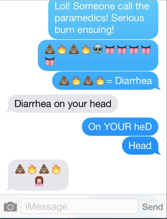 Text exchange between Jack & me Sunday a.m.