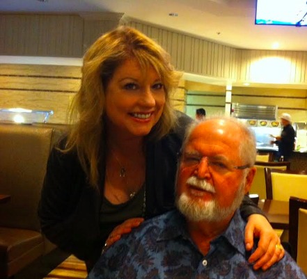Hard sci-fi author Larry Niven and me last night at a dinner for the Writers & Illustrators of the Future Awards
