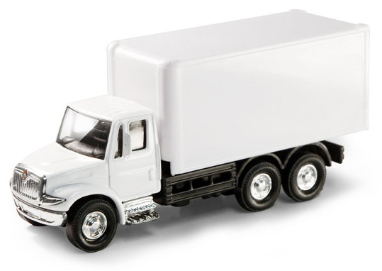 What I imagine a Sharpie delivery truck looks like--a blank canvas, begging to be drawn upon.