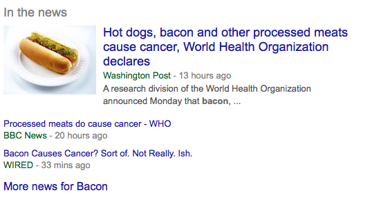 "Google ""bacon"" and here's what comes up today."