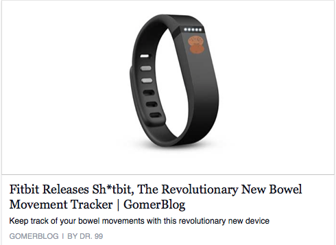 Remember when The Weather Channel was MTV for old people? Well, here's the FitBit equivalent.