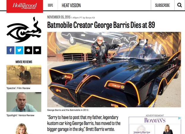 The genius, Mr. George Barris