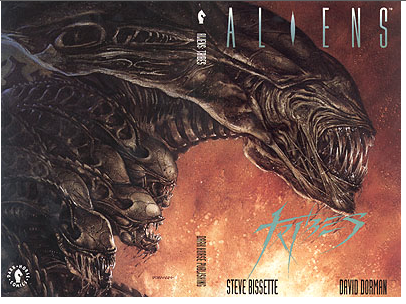 The famed ALIENS TRIBES cover by Dave Dorman