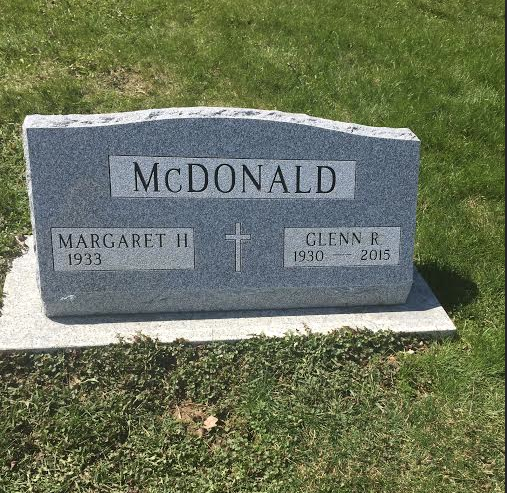 "The gravestone that took 10 months to get finished, all because I demanded there be a lower case ""C"" in McDonald and it fouled up their stonecutting logistics."